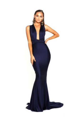 PS6110 LILIANNA NAVY EVENING DRESS